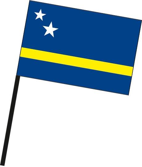 Curacao als Stockfahne