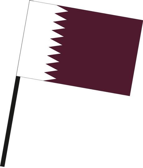 Katar als Stockfahne