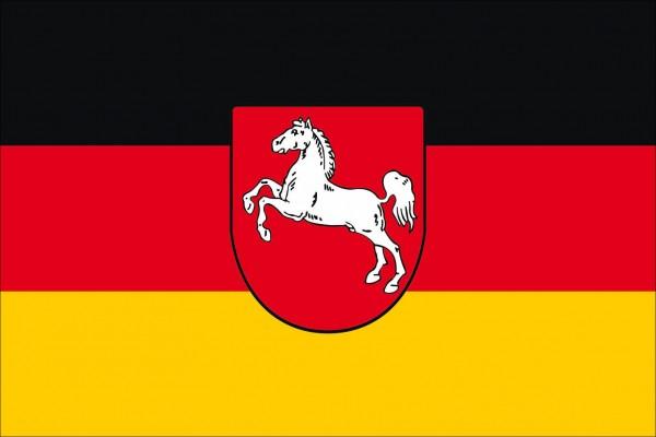 Niedersachsen als Fanfahne