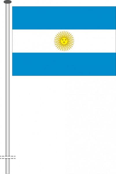 Argentinien als Querformatfahne