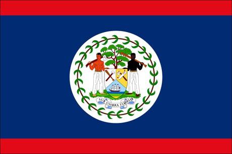 Belize als Fanfahne