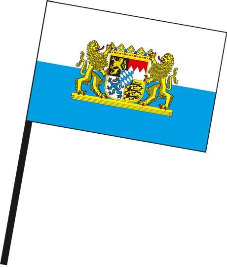 Bayern - Dienstflagge als Stockfahne