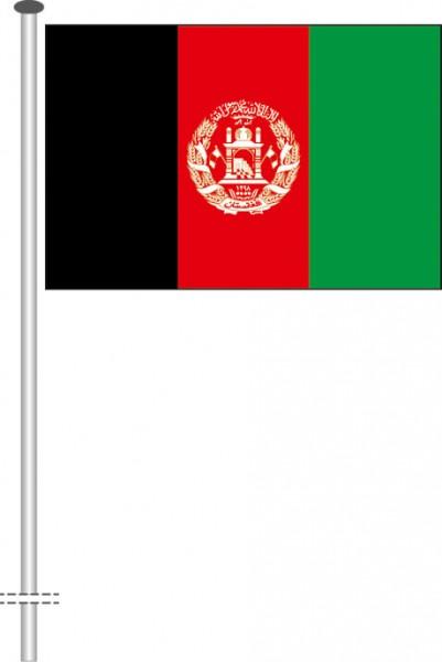 Afghanistan als Querformatfahne