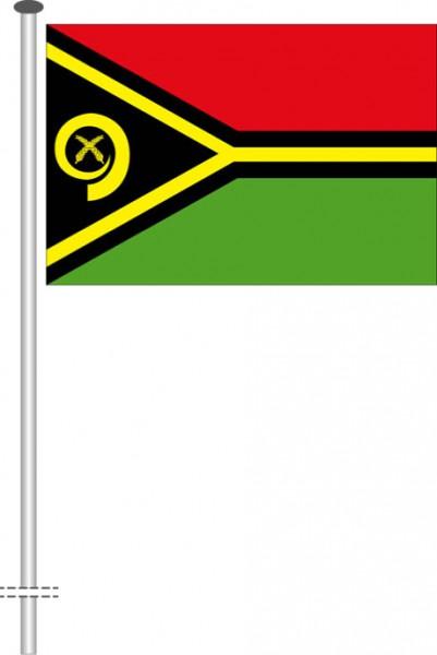 Vanuatu als Querformatfahne
