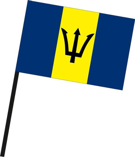 Barbados als Stockfahne