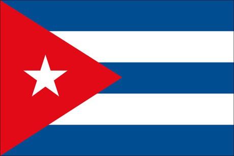Kuba als Fanfahne
