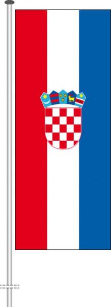 Kroatien als Hochformatfahne