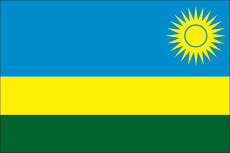 Ruanda als Fanfahne