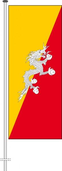 Bhutan als Hochformatfahne