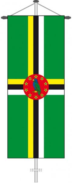 Dominica als Bannerfahne