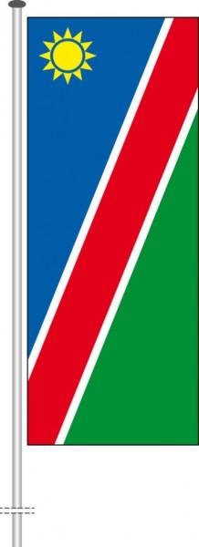 Namibia als Hochformatfahne