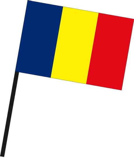 Andorra als Stockfahne