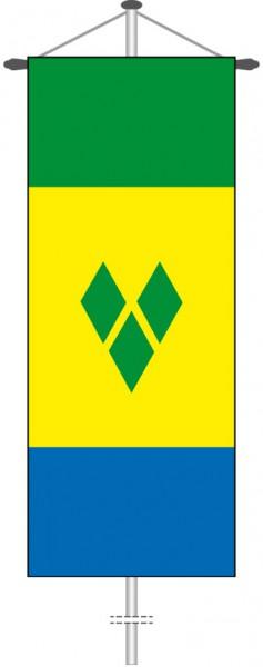 St. Vincent und Grenadien als Bannerfahne