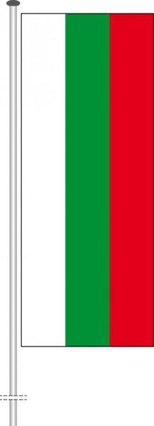 Bulgarien als Hochformatfahne