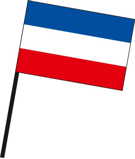 Schleswig-Holstein - Streifenflagge als Stockfahne
