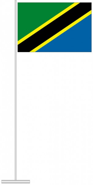 Tansania als Tischfahne