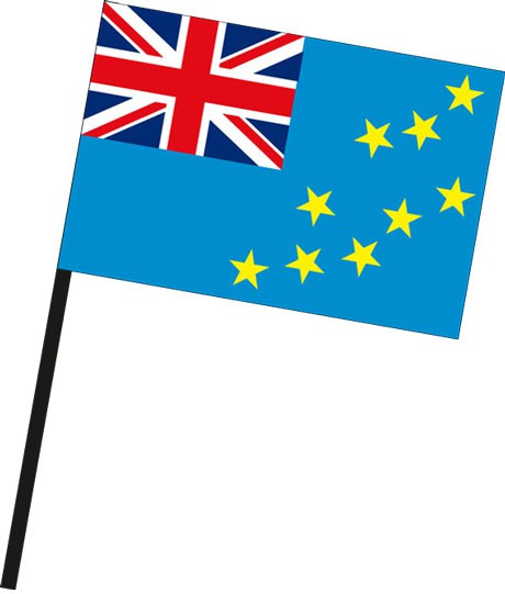 Tuvalu als Stockfahne