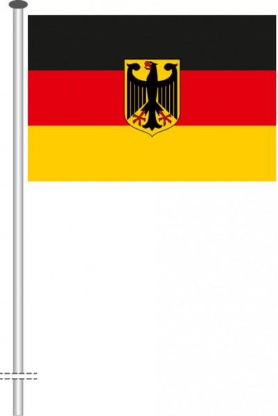 Bundeswappenflagge als Querformatfahne