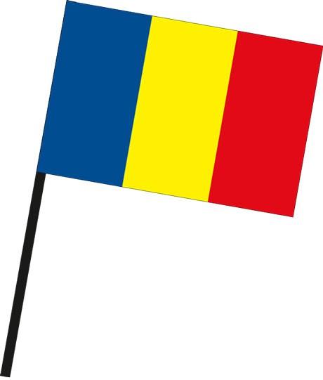 Rumaenien als Stockfahne