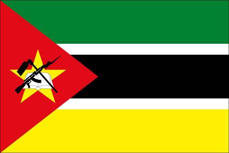 Mosambik als Fanfahne