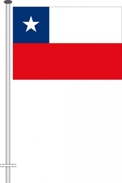 Chile als Querformatfahne
