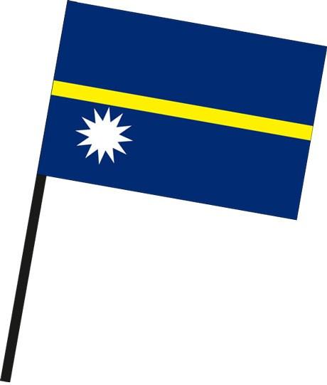 Nauru als Stockfahne