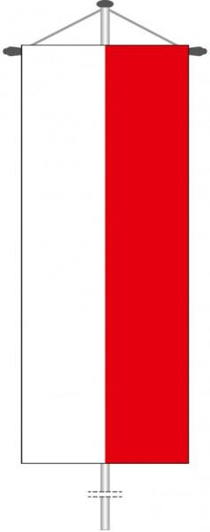 Thüringen - Streifenflagge als Bannerfahne