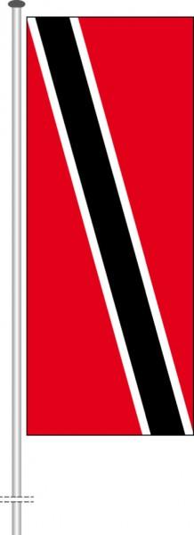 Trinidad und Tobago als Hochformatfahne