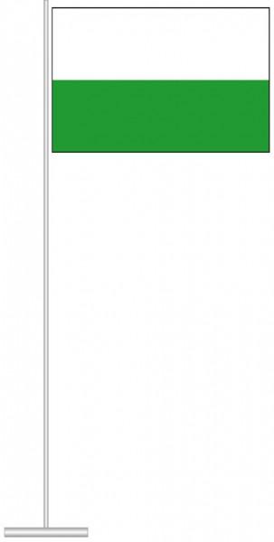 Sachsen - Streifenflagge als Tischfahne