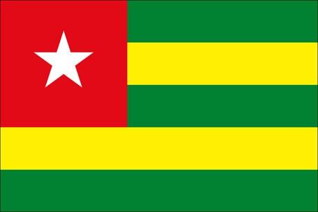 Togo als Fanfahne