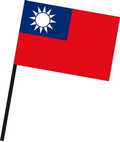 Taiwan als Stockfahne