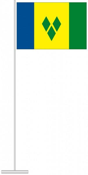 St. Vincent und Grenadien als Tischfahne