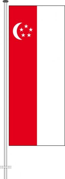 Singapur als Hochformatfahne