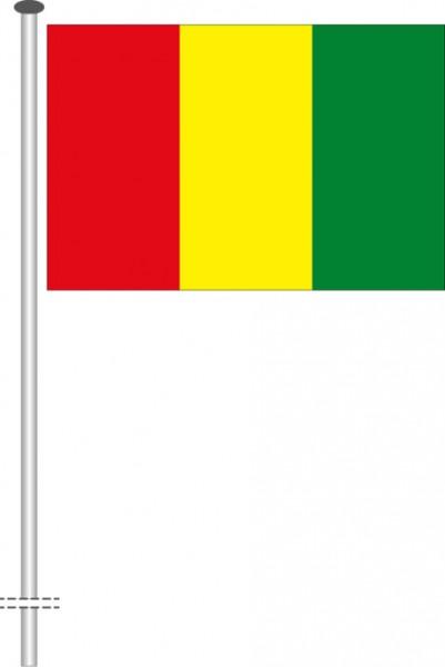 Guinea als Querformatfahne