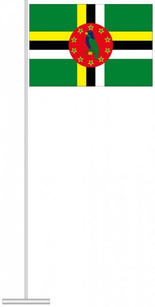 Dominica als Tischfahne