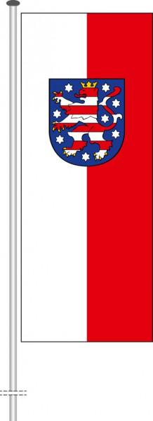 Thüringen - Dienstflagge als Hochformatfahne