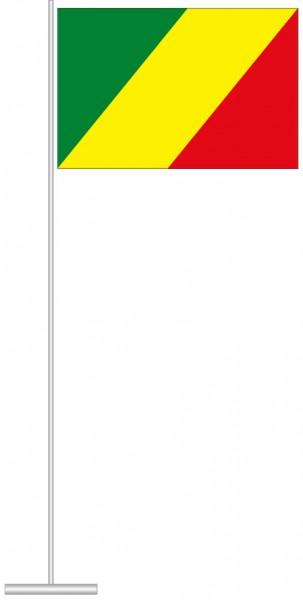 Kongo Brazzaville als Tischfahne