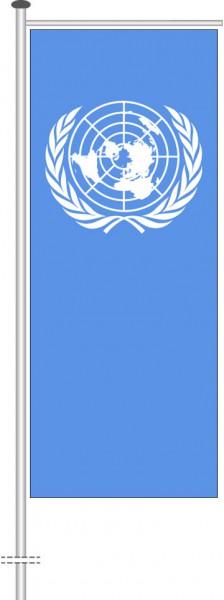 Vereinte Nationen als Auslegerfahne