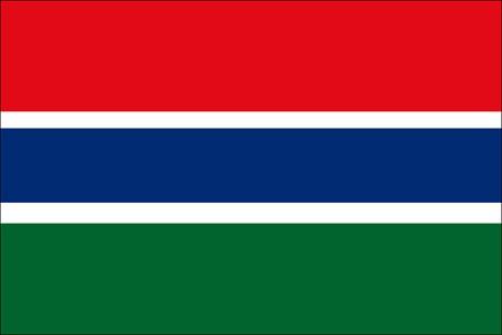 Gambia als Fanfahne