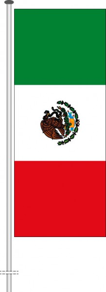 Mexiko als Hochformatfahne