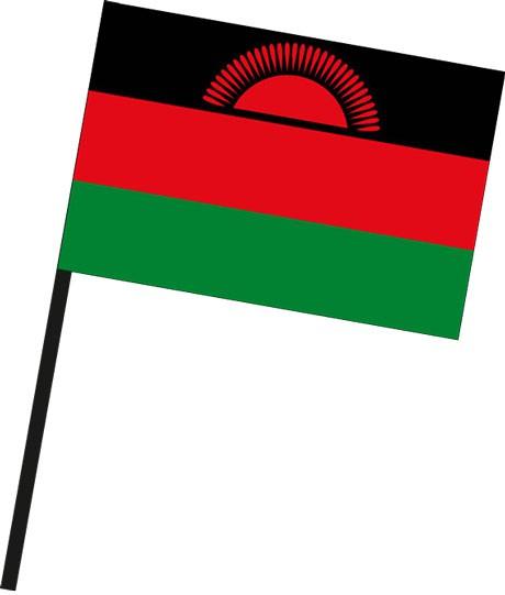 Malawi als Stockfahne