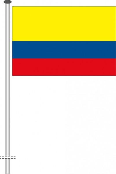 Kolumbien als Querformatfahne