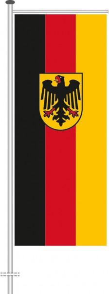 Bundesdienstflagge als Auslegerfahne