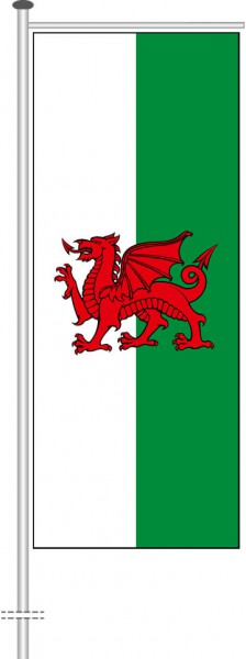 Wales als Auslegerfahne