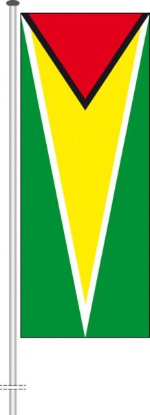 Guyana als Hochformatfahne