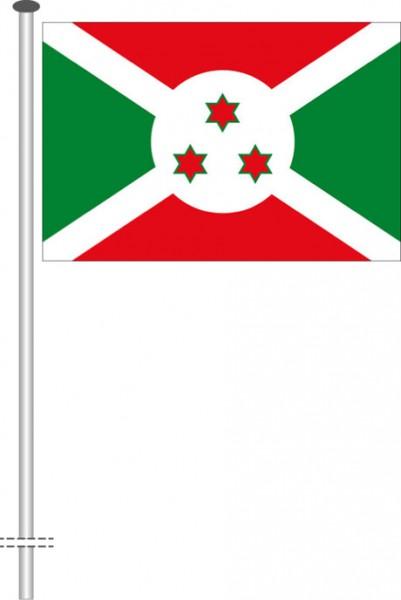 Burundi als Querformatfahne