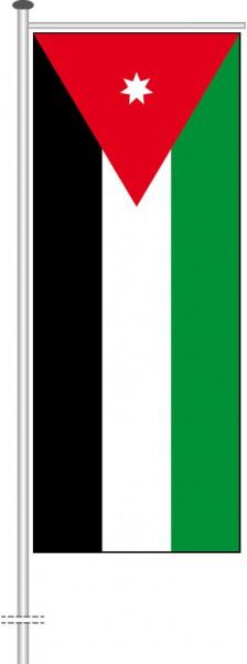 Jordanien als Auslegerfahne