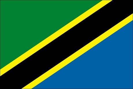 Tansania als Fanfahne