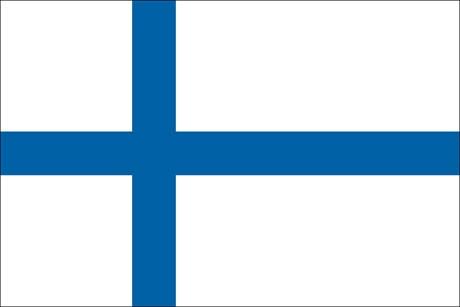Finnland als Fanfahne