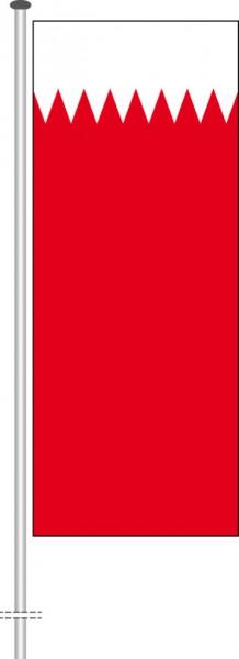 Bahrain als Hochformatfahne